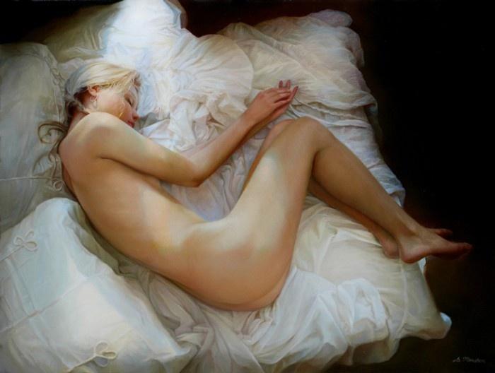 Чувственность женского тела в работах русского художника Сергея Маршенникова (25 фото)