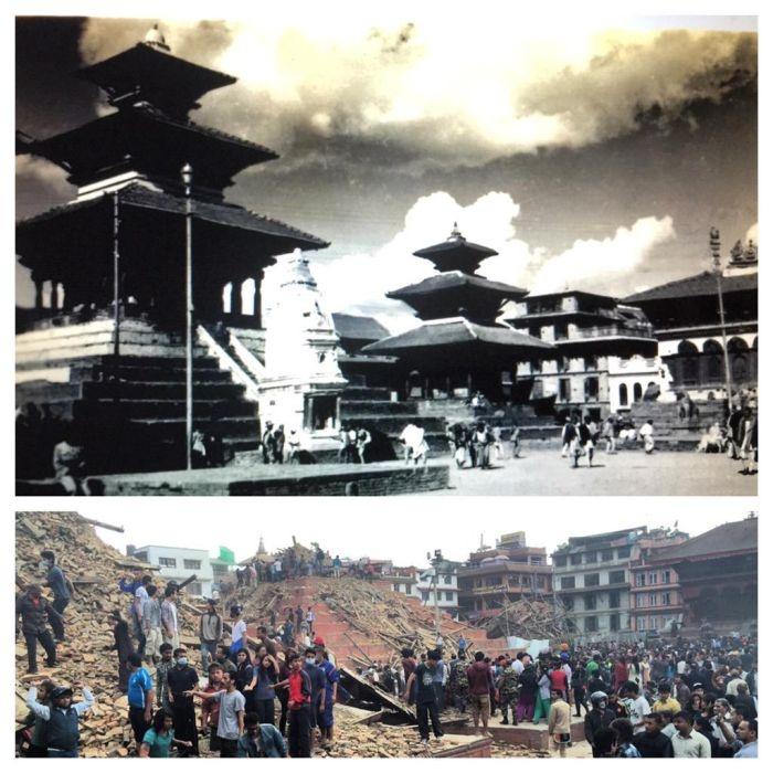 Фотографии разрушений в Непале после землетрясения (до и после)