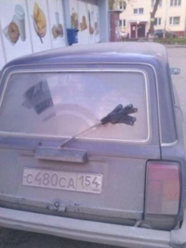 Ремонт авто на скорую руку (25 фотографий)