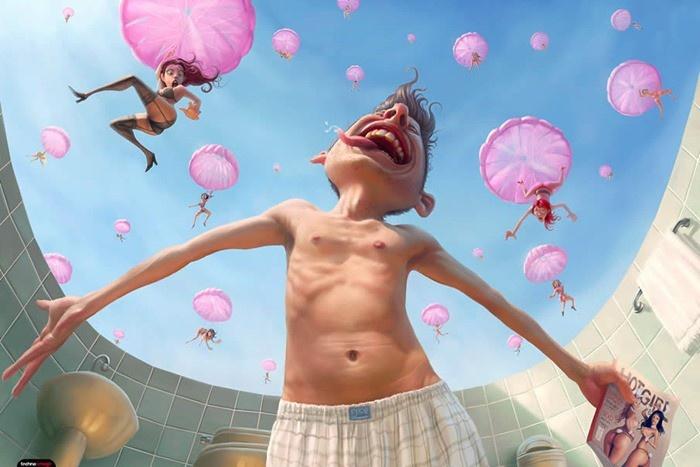 Забавные иллюстрации Тиего Хойсела (25 фото)