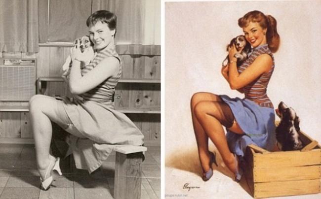 Как выглядели модели одного из родоначальников стиля pin-up (22 фото)