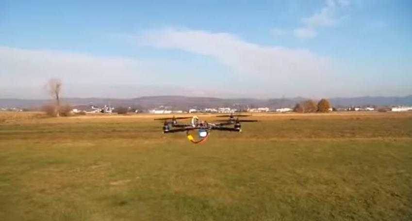 Супербыстрый и маневренный квадрокоптер