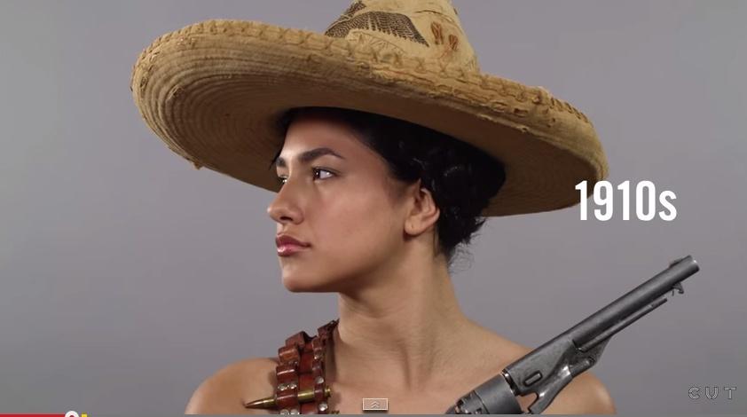 Изменение идеала женской красоты в Мексике в течение столетия