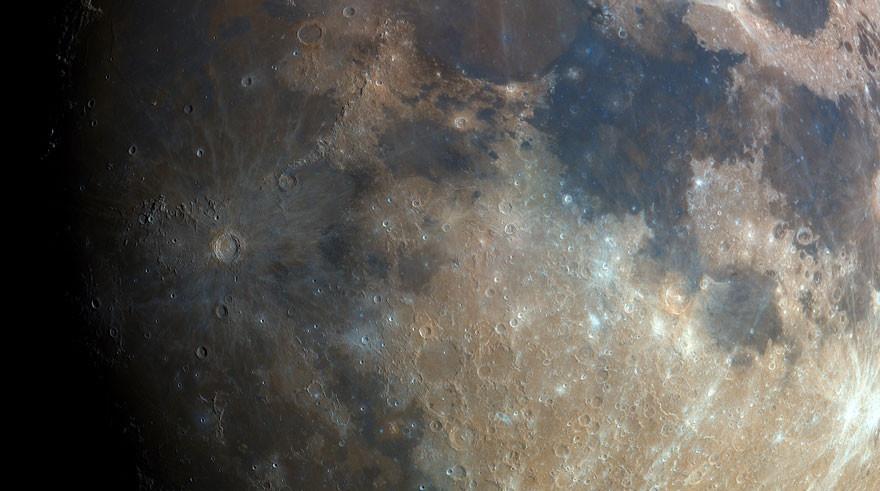 Новое фото Луны, созданное польским астрономом-любителем (6 фото)