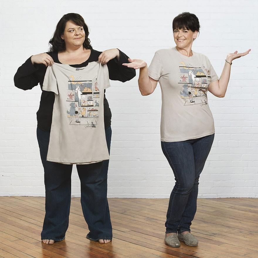 Прикольная фотосессия женщины, похудевшей на 68 кг (11 фото)
