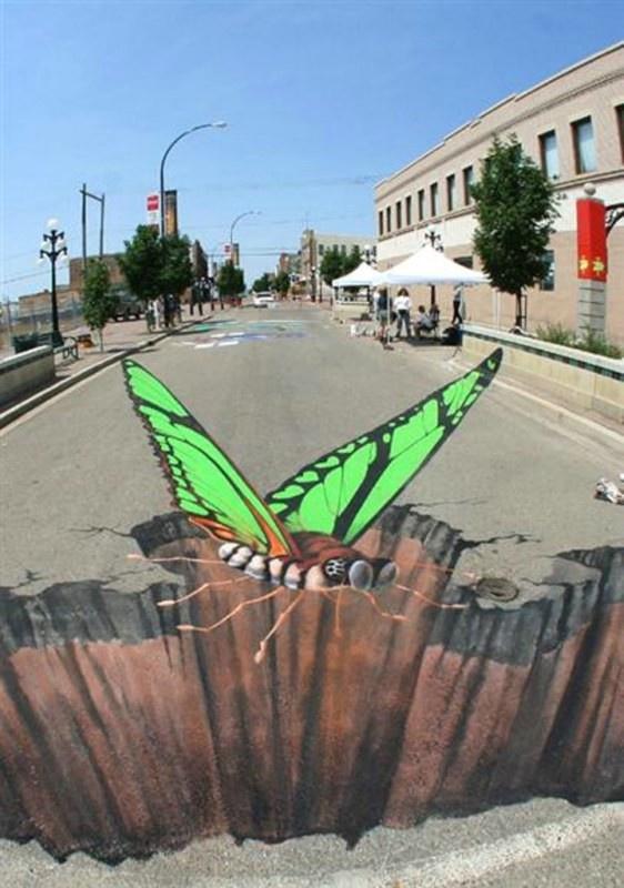 Классные рисунки уличных 3D-художников (35 фотографий)
