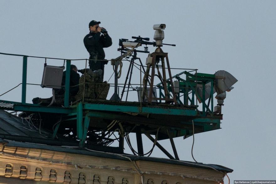 Обеспечение безопасности парада Победы (5 фото)