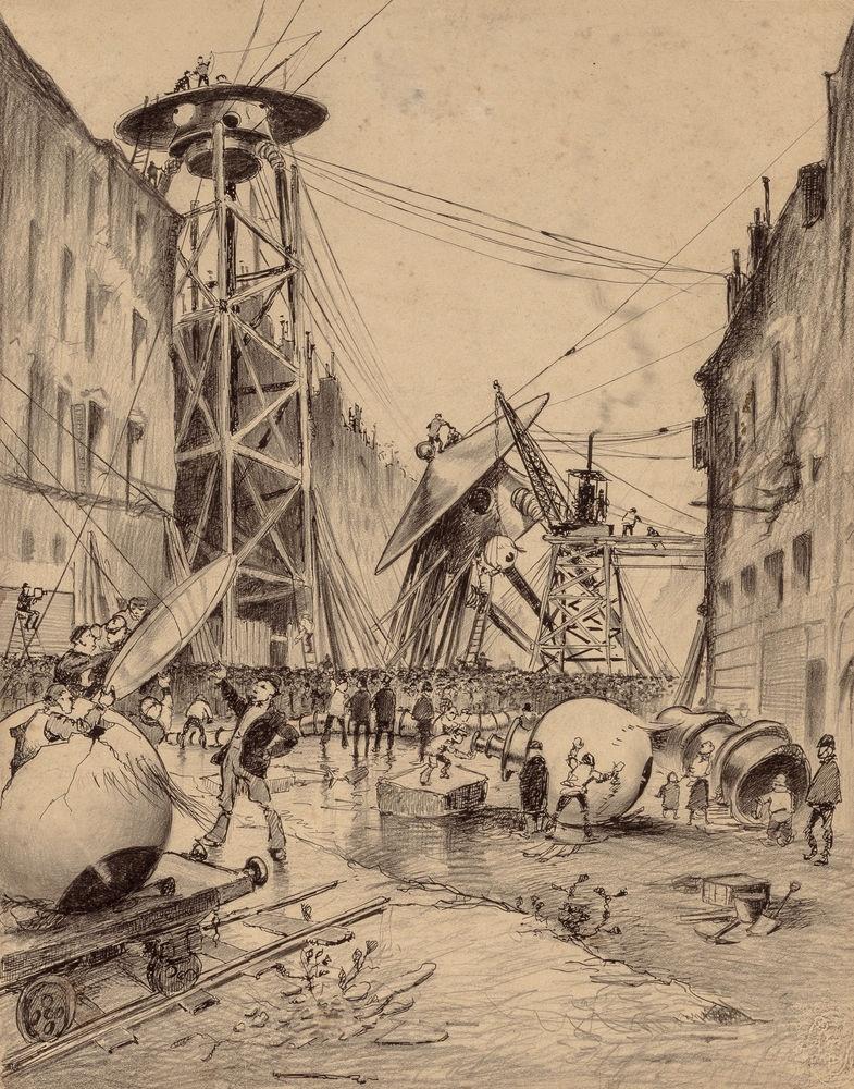 Первые иллюстрации к произведениям Герберта Уэллса (13 фото)