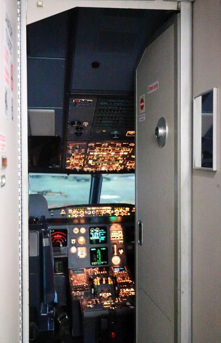 Устройство двери в кабину самолета на примере самолета Airbus-320 (17 фото)