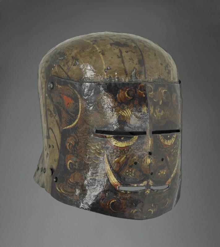 Шлемы немецких рыцарей шестнадцатого века (14 фото)