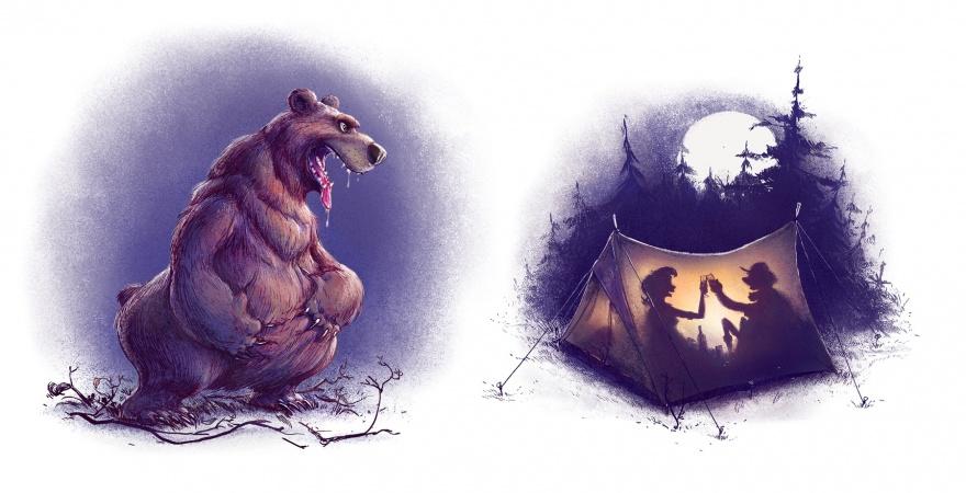 Добрый черный юмор от польского иллюстратора Михала Дзекана (18 фото)
