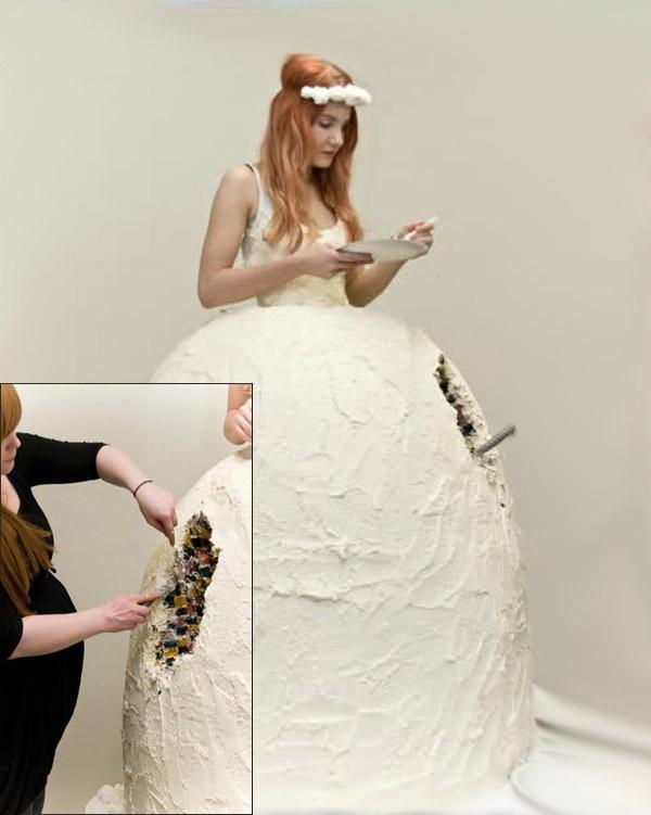 Необычные свадебные наряды (25 фото)