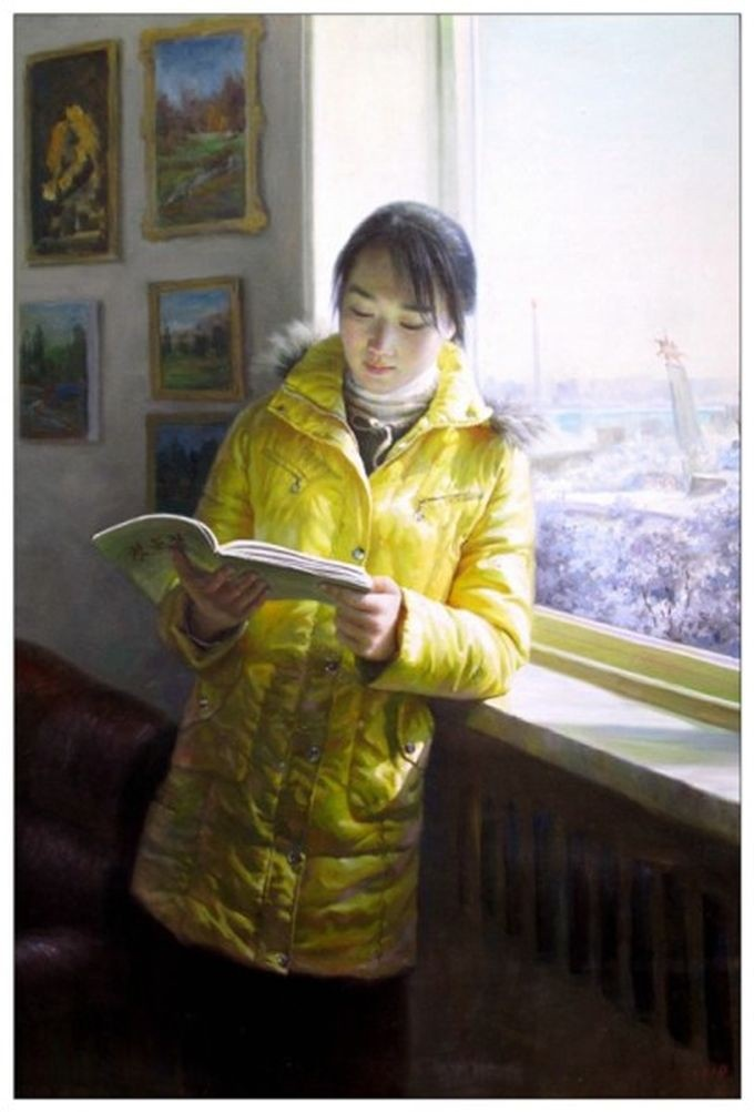 Работы художников-портретистов из Северной Кореи (36 картин)