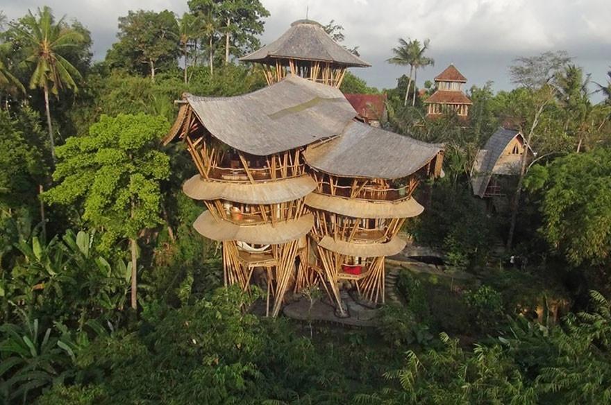 Креативные дома из бамбука (12 фото)