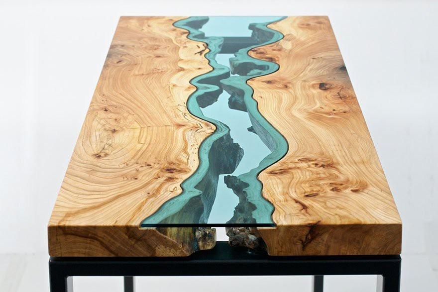 Примеры необычного дизайна столов (23 фото)