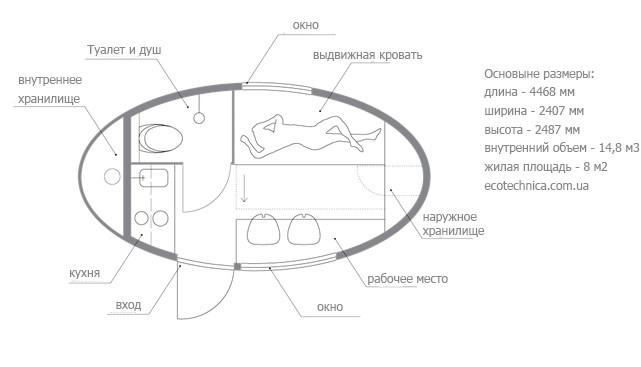 Автономная экокапсула для жизни двух человек (9 фото)