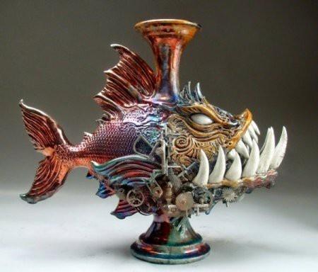 Фантастическая керамика от Митчелла Графтона (29 фото)