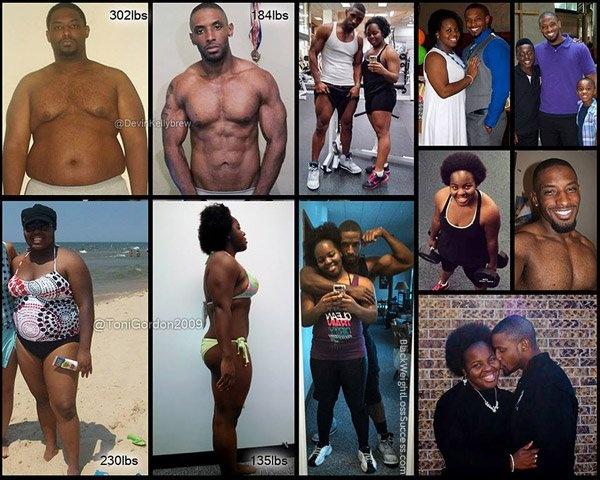 Фотографии влюбленных пар со всего света, сумевших вместе добиться отличной физической формы (20 фото)