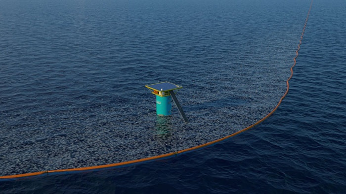 Новая система очистки океанской поверхности от пластикового мусора изобретена 20-летним студентом (10 фото)