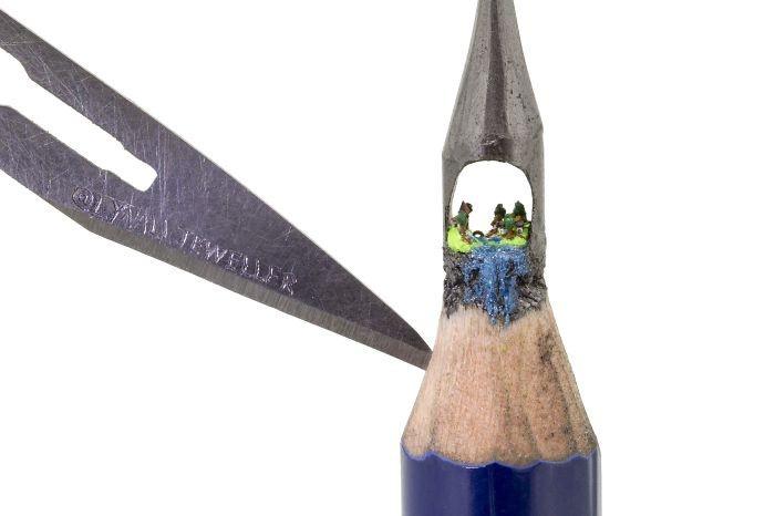 Удивительные миниатюры на кончике карандаша (11 фото)