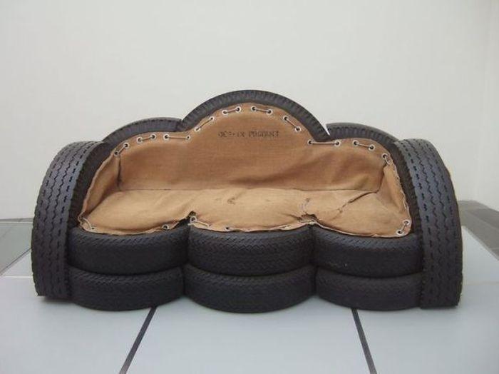 Интересный взгляд дизайнера на старые шины (36 фото)