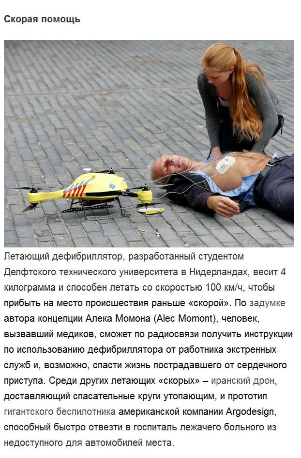 Сферы жизни, в которых использование беспилотников наиболее востребовано (14 фото)