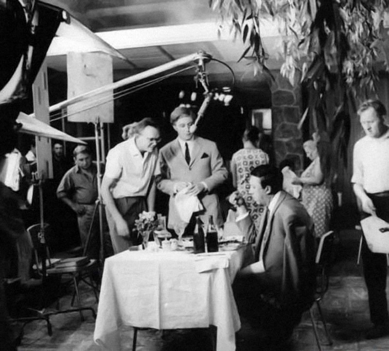 Фото, сделанные во время съемок известных советских фильмов (18 фотографий)