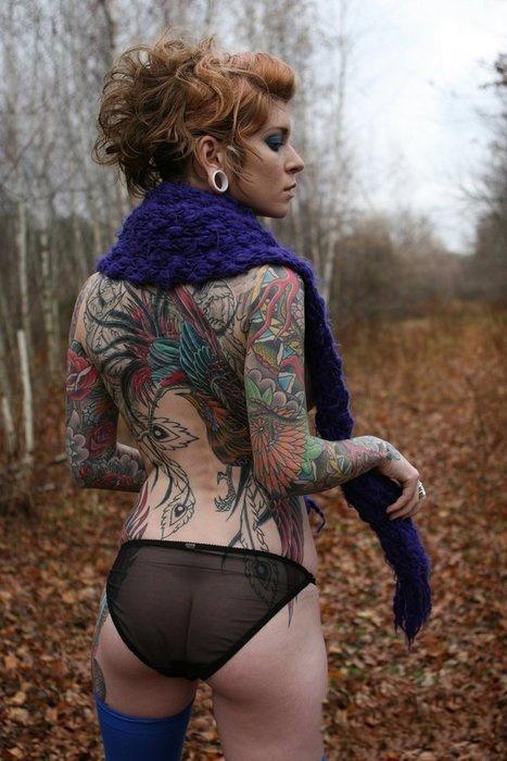 Девушки и татуировки 28.06.2015 (24 фото)