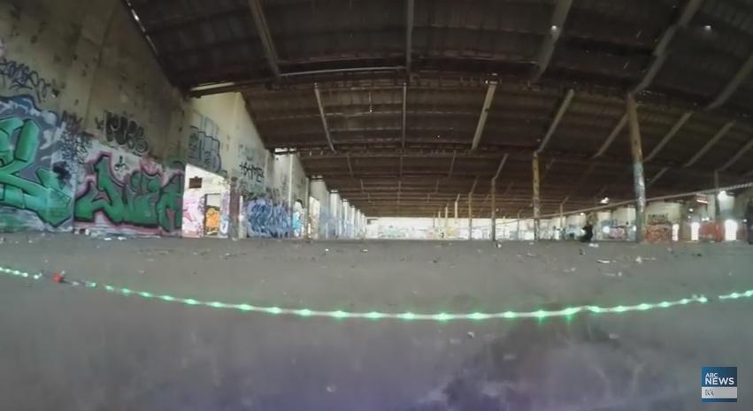 Классное видео гонок дронов