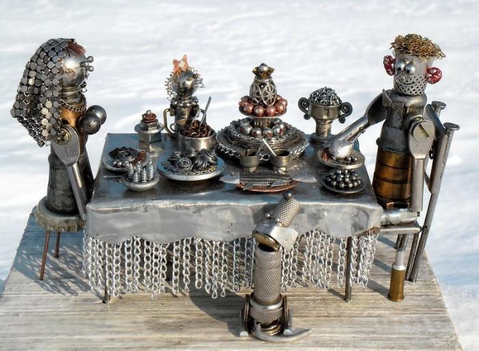 Необыкновенные поделки из металла (18 фото)