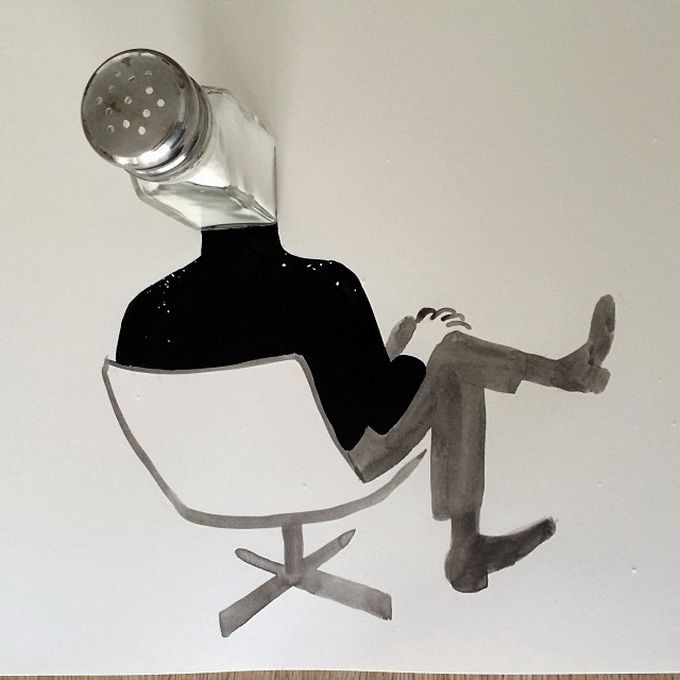 Смешные иллюстрации с предметами (30 фото)