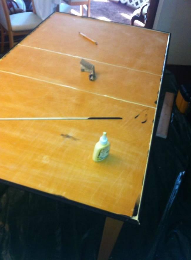 Обновление старого стола (10 фото)