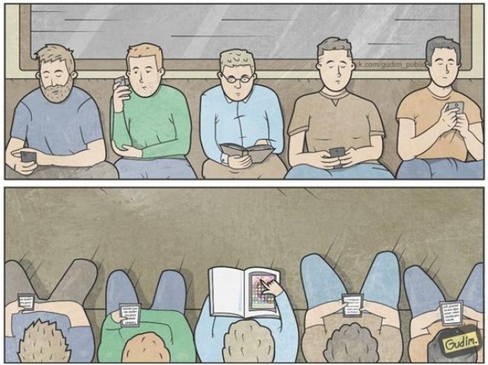 Прикольные комиксы (22 картинки)