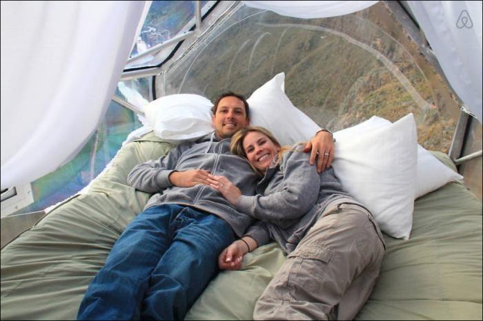 Как спят экстремалы (8 фото)