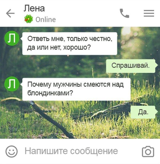 Смешные СМС диалоги