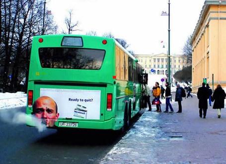 Необычная реклама на автобусах (10 фото)