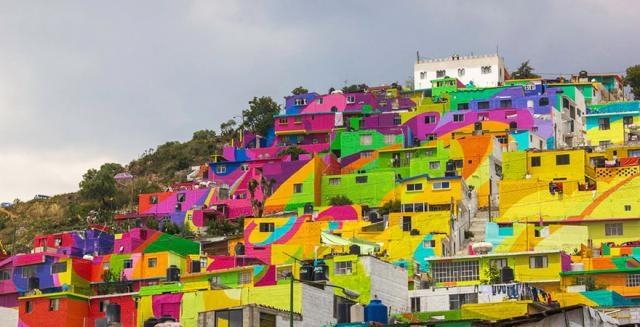 Радужное граффити в Мексике