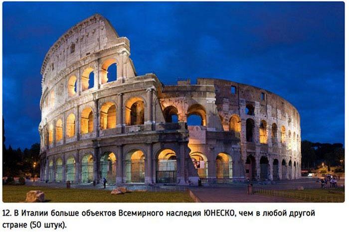 Самое интересное об Италии