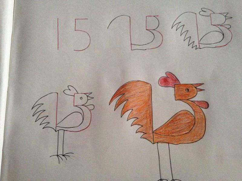 Как рисовать цифры