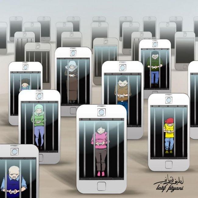 Как смартфоны завладели нашей жизнью (20 фото)
