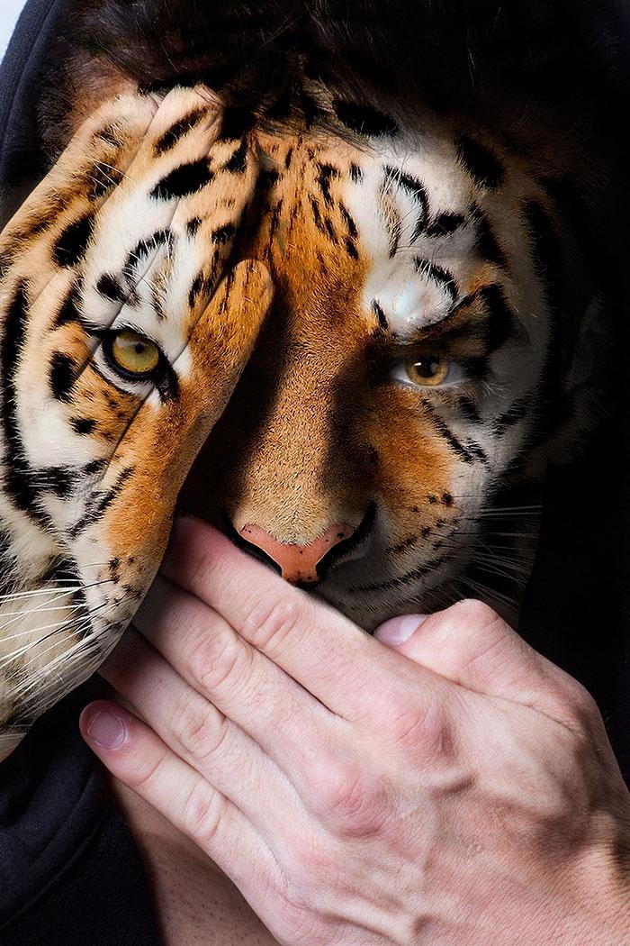 Необычный фотопроект в защиту хищников в неволе