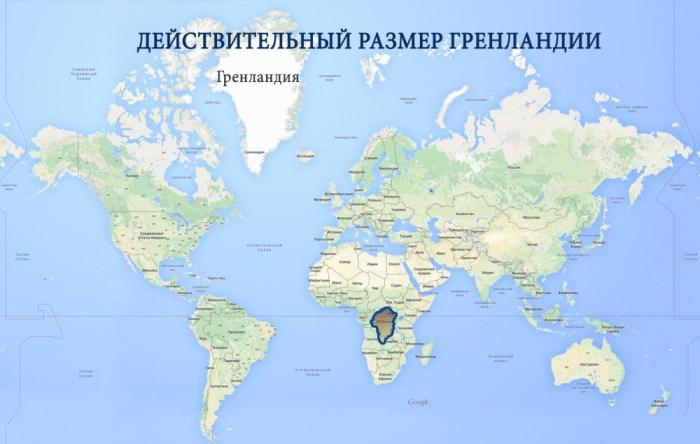 Искажение размеров географических объектов (4 фото)