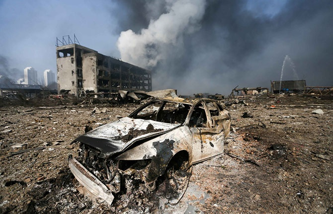 Последствия техногенной катастрофы в Китае (21 фото)