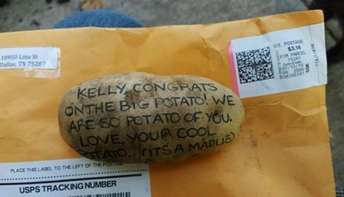 20 000 долларов за 2 месяца заработал американец на отправке сообщений на картофелинах (3 фото)