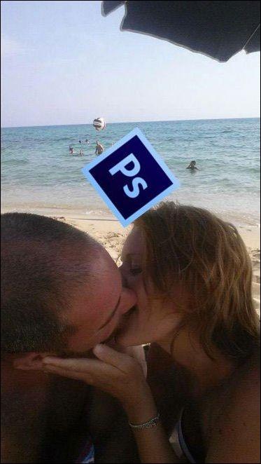 Забавная обработка романтического фото (18 фото)
