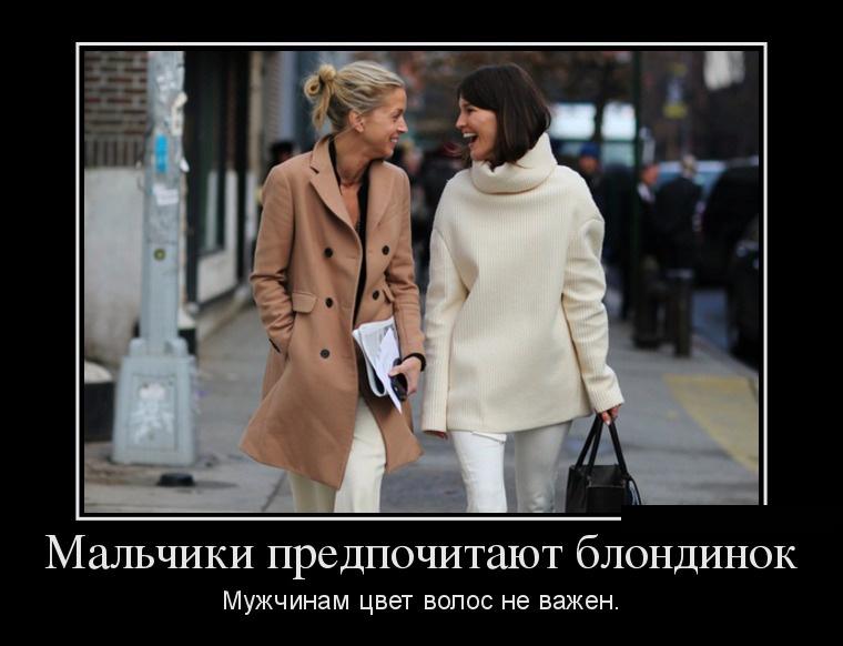 Демотиваторы о блондинках (16 фото)