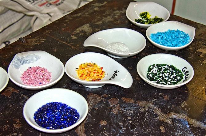 Изготовление стеклянных цветов
