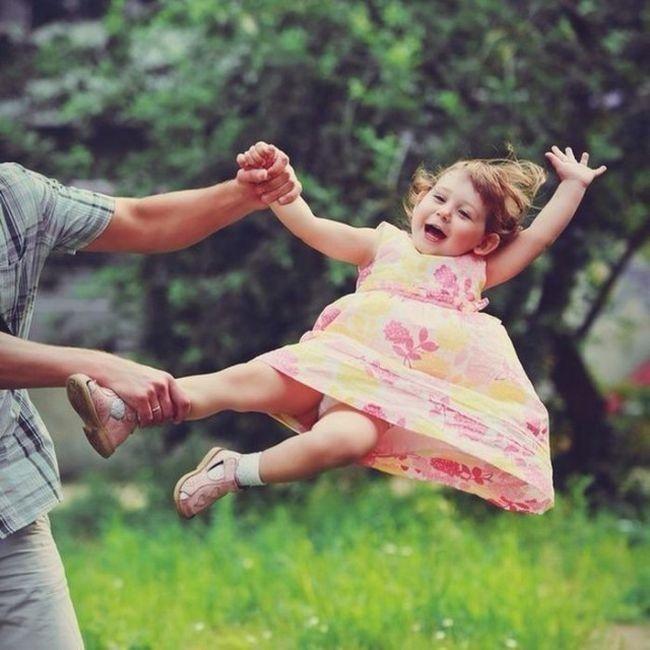 Дети под присмотром отцов (39 фото)