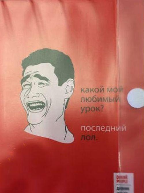 Интернет-мемы на школьных дневниках (4 фото)