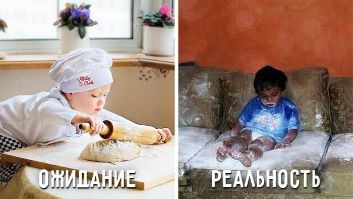 Ожидания и реальность в воспитании детей (9 фото)